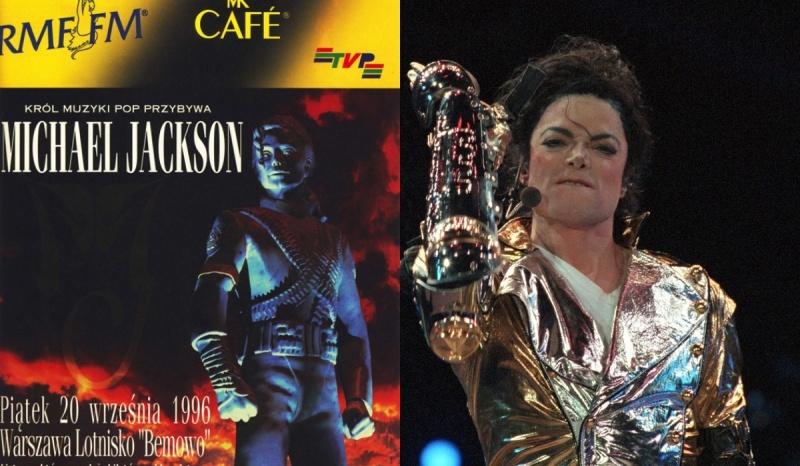 Oficjalny plakat wydarzenia (źródło: 30lat.rmf.fm); Michael Jackson (źródło: muzyka.interia.pl)