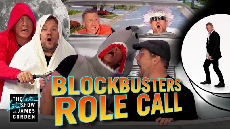 Corden i Craig parodiują sceny z popularnych filmów (fot. youtube.com/screenshot)