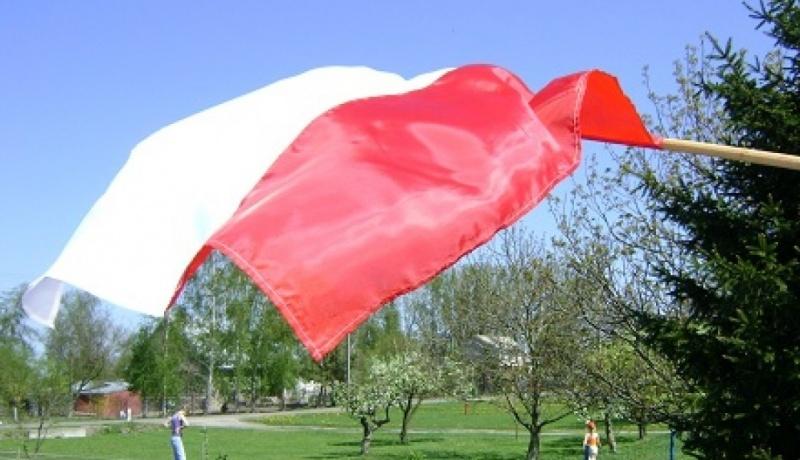 Flaga Polski (aut. zdj. M. Matusiak)
