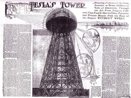 Wieża tesli działająca z kondensatorem Tesli