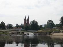 Katedra włocławska, widok na rzekę Zgłowiączkę