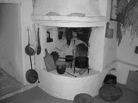 Chlebowy piec w najstarszej chałupie (1760)