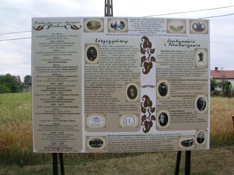 Tablica z historią Belna (aut. zdj. M. Matusiak)