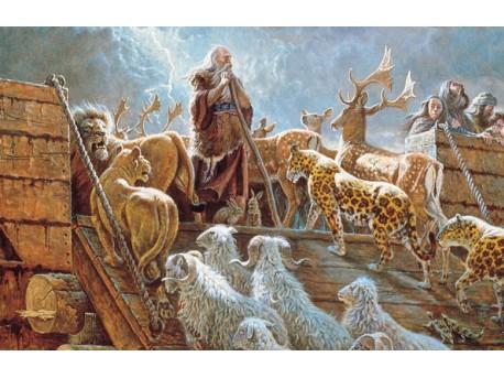 Noe i zwierzęta wchodzące na Arkę (źródło: www.flickr.com/photos/moregoodfoundation) https://www.flickr.com/photos/moregoodfoundation