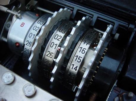 Enigma -zestaw wirników  wikimedia.org