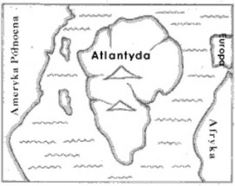 Mapa Atlantydy