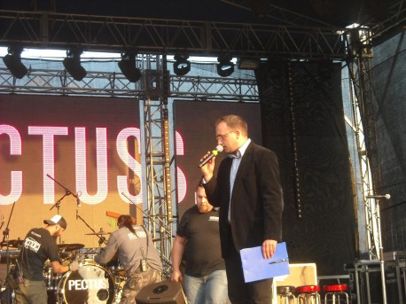 Konferansjer (fot. Przemysław Jankowski)