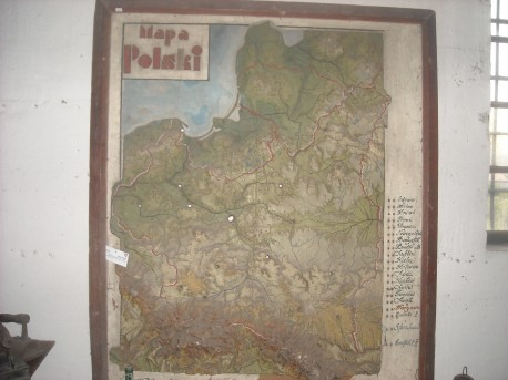 Przedwojenna mapa Polski (fot. Przemysław Jankowski)