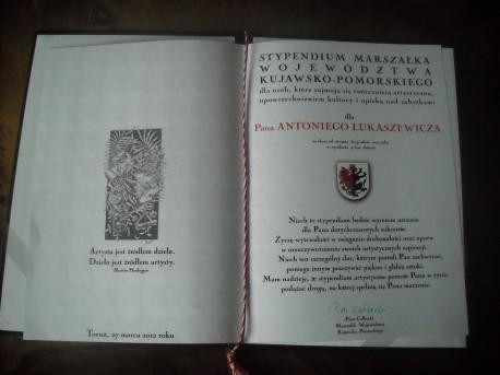 Dyplom pana Łukaszewicza (fot. Przemysław Jankowski)