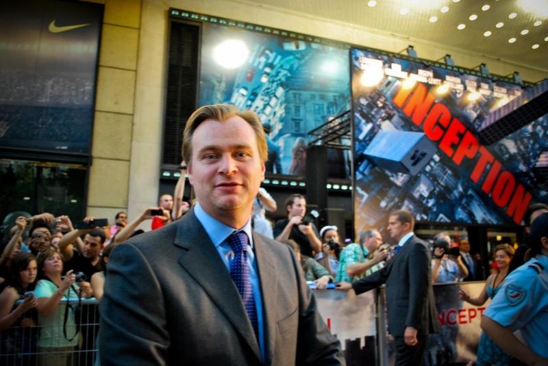 """Christopher Nolan na premierze """"Incepcji"""" (źródło: www.flickr.com/photos/ninha_lalala)"""