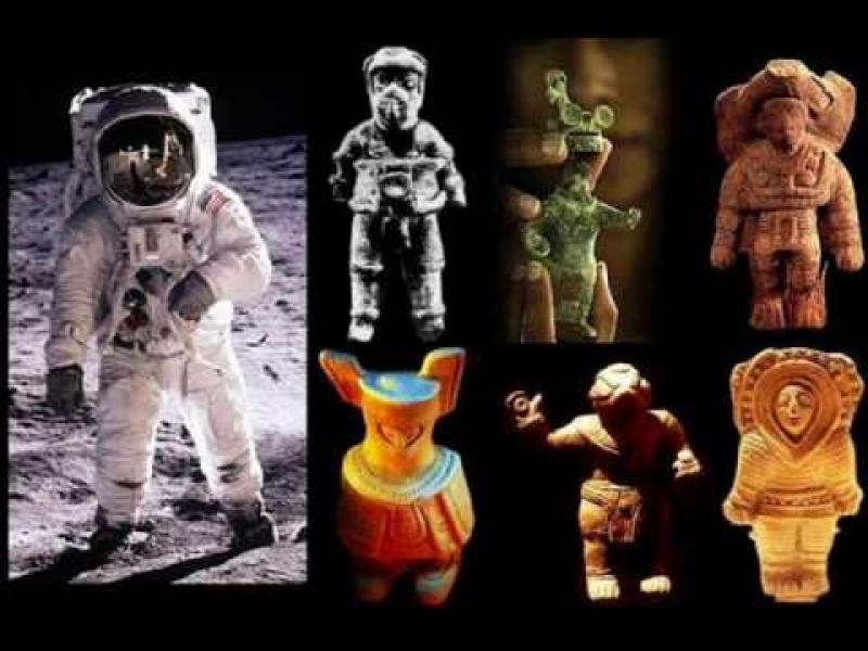 Wiele ze starożytnych figurek przedstawia pradawnych astronautów