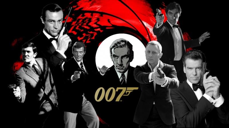 Wszyscy aktorzy wcielający się w 007 (źródło: fansshare.com)