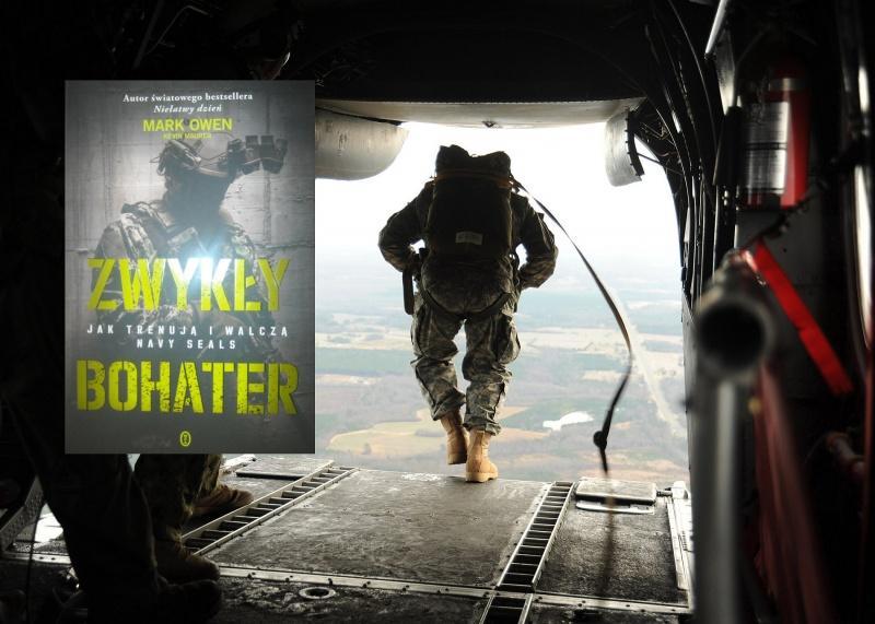 Okładka (źródło: zdjęcia autorskie), W tle komandos Navy SEALs wyskakujący z samolotu https://www.flickr.com/photos/usnavy
