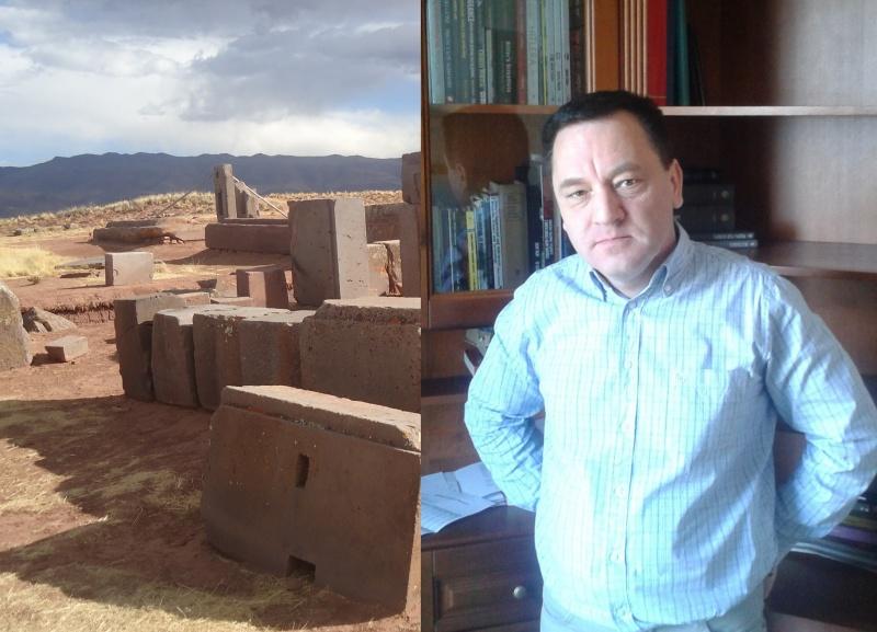 Po lewej ruiny Puma Punku w Boliwii, po prawej Igor Witkowski (fot. Łukasz Kulak) http://lukaszkulak92.wordpress.com