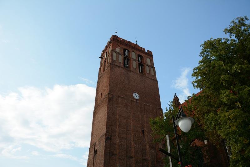 Zamek kapituły pomezańskiej - wieża z zegarem (fot. PaM)