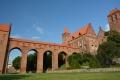 Zamek w Kwidzynie z zewnątrz -