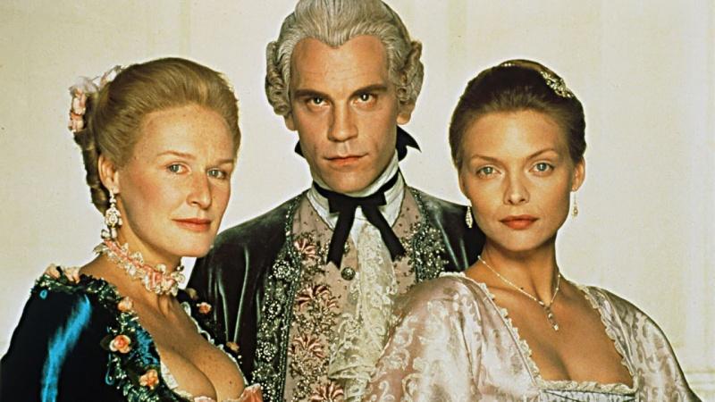 Markiza de Merteuil, Valmont i Madame de Tourvel (źródło: youtube.com/sreenshot)