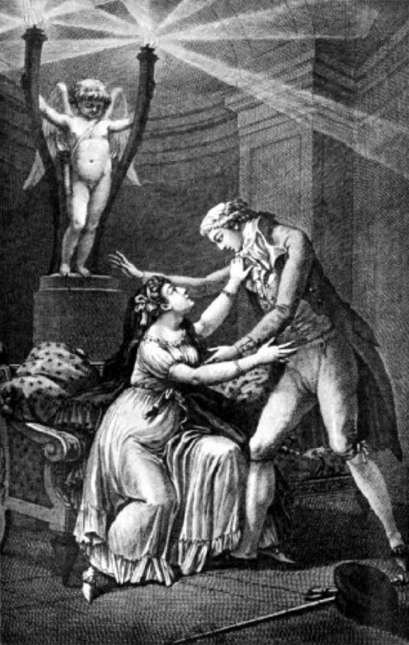 Ilustracja z powieści Choderlosa de Laclosa (źródło: wikimedia.org)