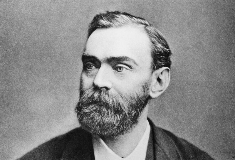 Alfred Nobel – fundator i pomysłodawca nagrody (ur. 21 października 1833 w Sztokholmie, zm. 10 grudnia 1896 w Sanremo).