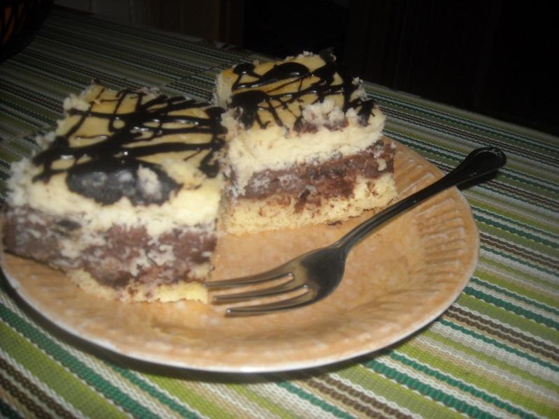 Ciasto z czekoladowym budyniem (fot. pj)