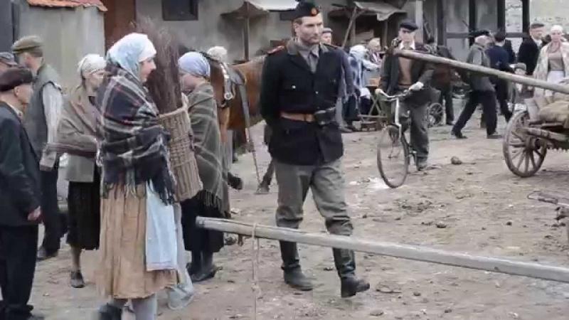 """Na planie filmu """"Wołyń"""" (źródło: youtube.com)"""