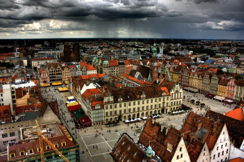 Wrocław - widok na rynek z kościoła św. Elżbiety https://www.flickr.com/photos/klearchos/
