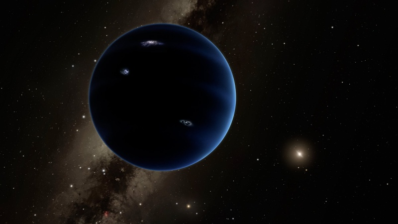 Planeta X/Planeta 9 (wizualizacja; źródło: sreenshot/youtube.com/caltech)