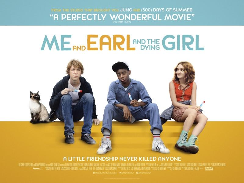 """Plakat z filmu """"Earl i ja, i umierająca dziewczyna"""" (źródło: youtube.com) http://www.stuk.be"""