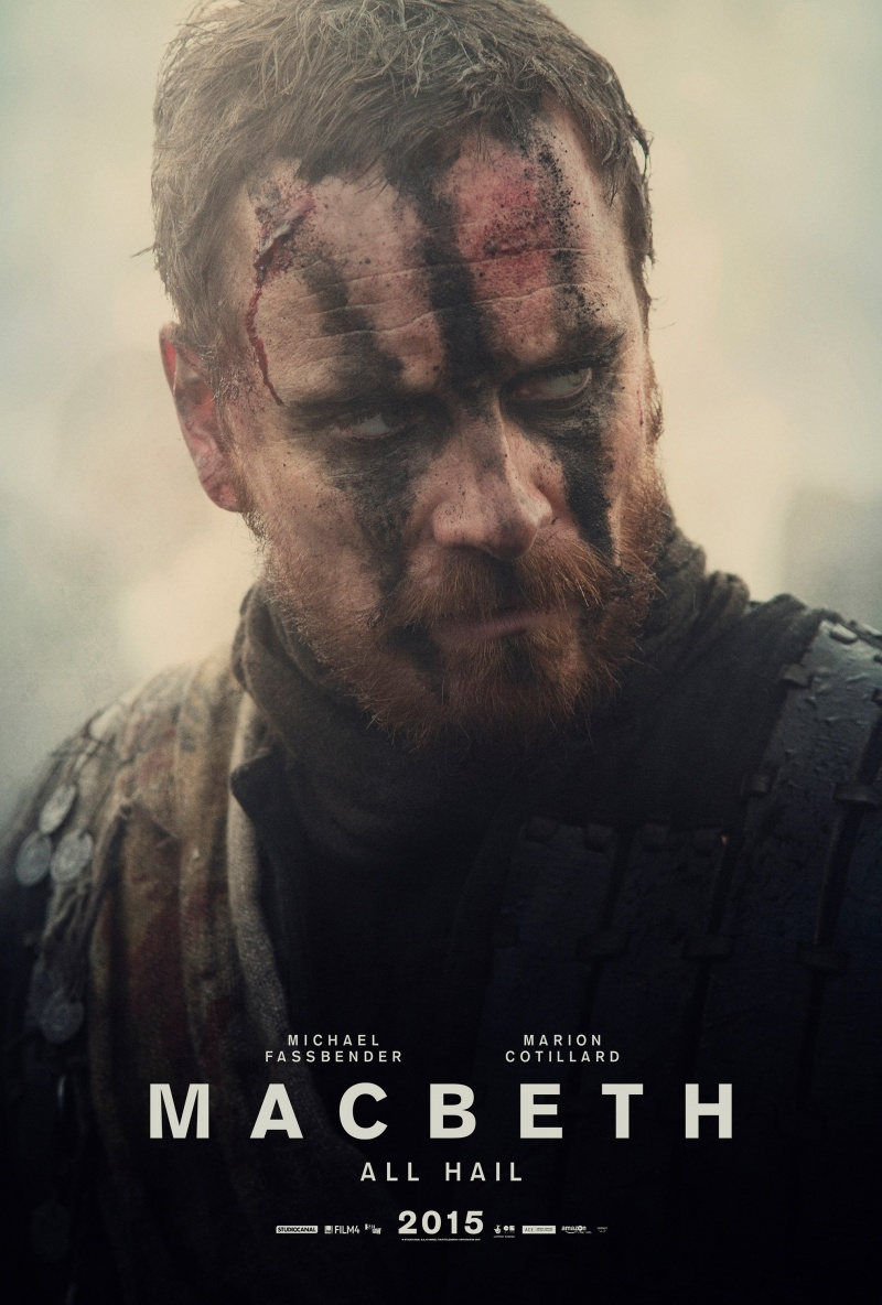 "Plakat z filmu ""Makbet"" http://www.indiewire.com/article/michael-fassbender-and-marion-cotillard-are-shakespearean-stunners-in-macbeth-character-portraits-20150827"