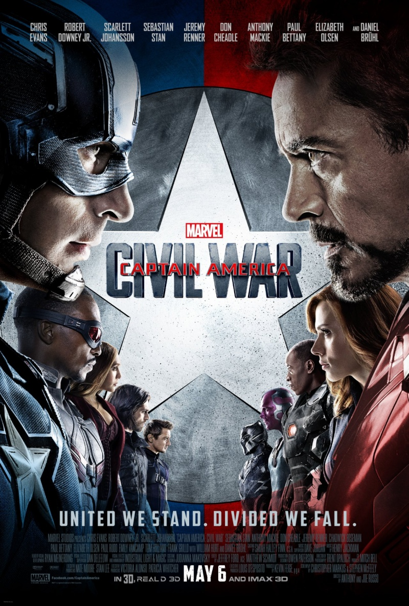 "Plakat z filmu ""Kapitan Ameryka: Wojna bohaterów"" http://cdn3-www.superherohype.com/assets/uploads/gallery/captain-america-civil-war/civil-war-poster-3.jpg MARVEL"
