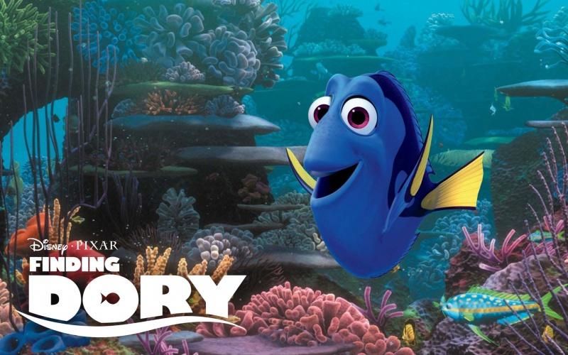 """Kadr z filmu """"Gdzie jest Dory?"""" (źródło: youtube.com)  Pixar"""