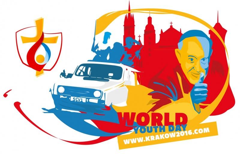 ŚDM Kraków 2016 - logo (źródło: youtube.com/screenshot)