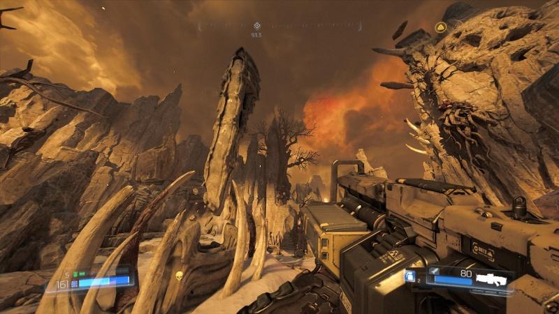 """Zrzut ekranu z gry """"Doom"""" (źródło: praca własna)."""