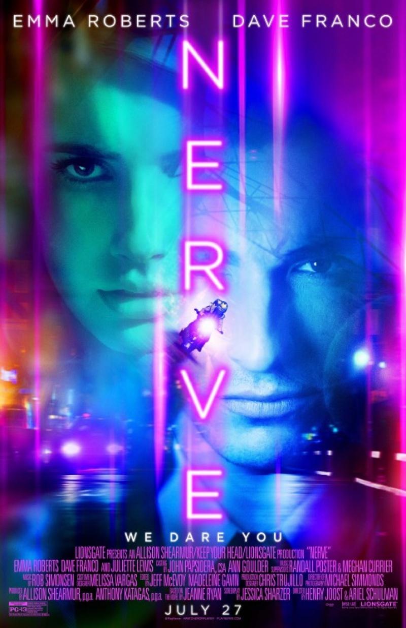"Poster do filmu ""Nerve"" http://www.monolith.pl/filmy/2016/nerve/"