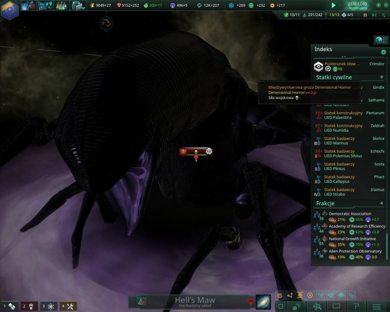 """Screen z gry """"Stellaris"""" (źródło: rozgrywka własna)"""