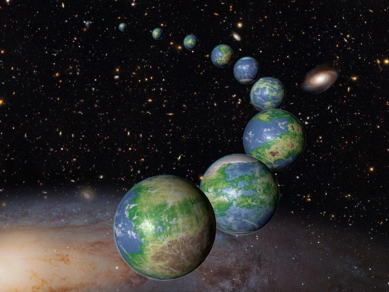 Planeta Ziemia i jej bliźniaczki (źródło: wikimedia.org)