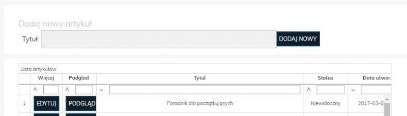 Jak dodać nowy artykuł na Altao.pl  Altao.pl