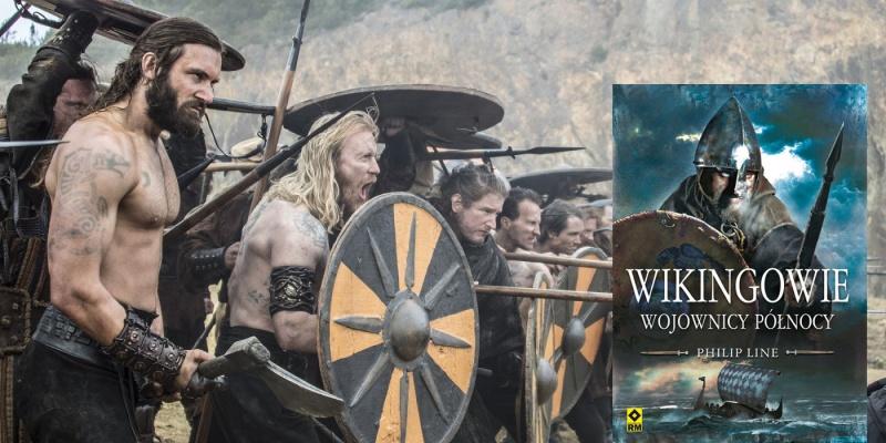 """Tło (kadr z serialu """"Wikingowie""""; źródło: materiały prasowe); Okładka (źródło: http://www.rm.com.pl )"""