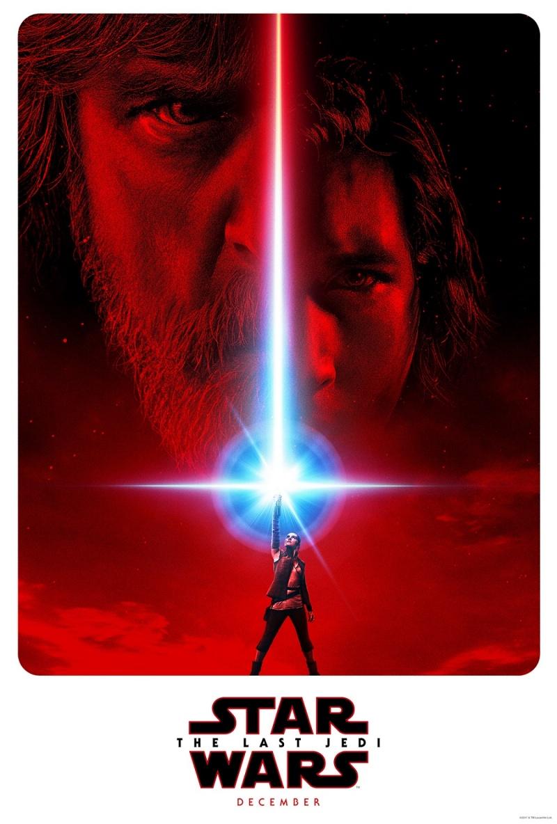 """Oficjalny plakat z filmu """"Gwiezdne wojny: ostatni Jedi"""""""