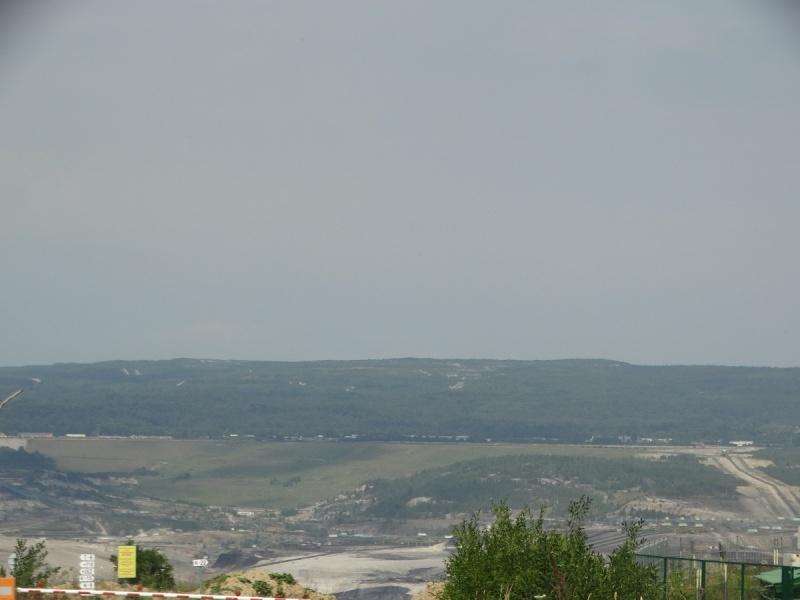 Dzień V - Widok na kopalnie Węgla Brunatnego obok Bogatyni (miasta w worku)