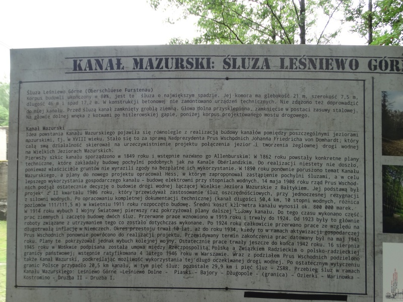 Dzień XIII - Kanał Mazurski: Śluza Leśniewo Górne