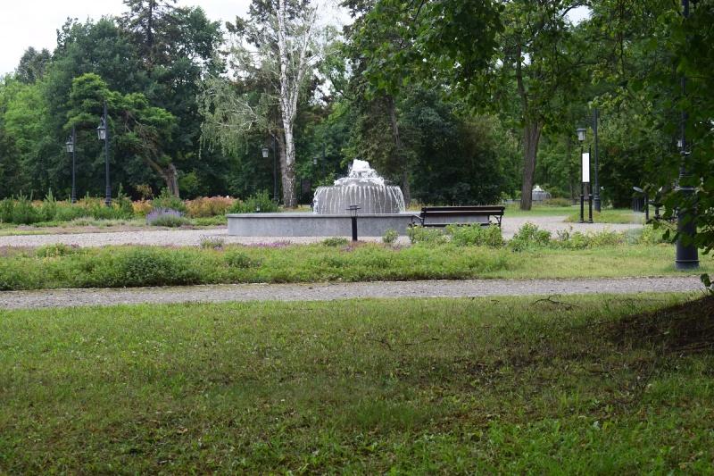 Widok na fontannę (fot. PJ)