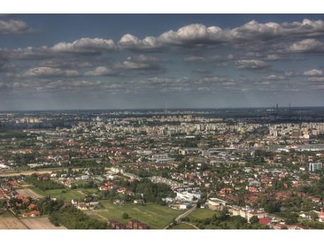 źródło: flickr.com  (widok Warszawy z lotu ptaka)