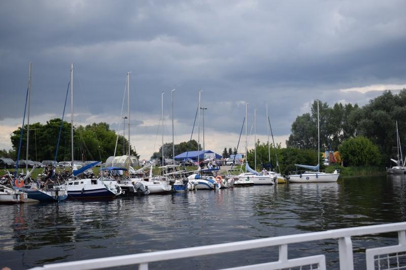 Nowy Duninów - Port Jachtowy - widok z poziomu Wisły (fot. PJ)