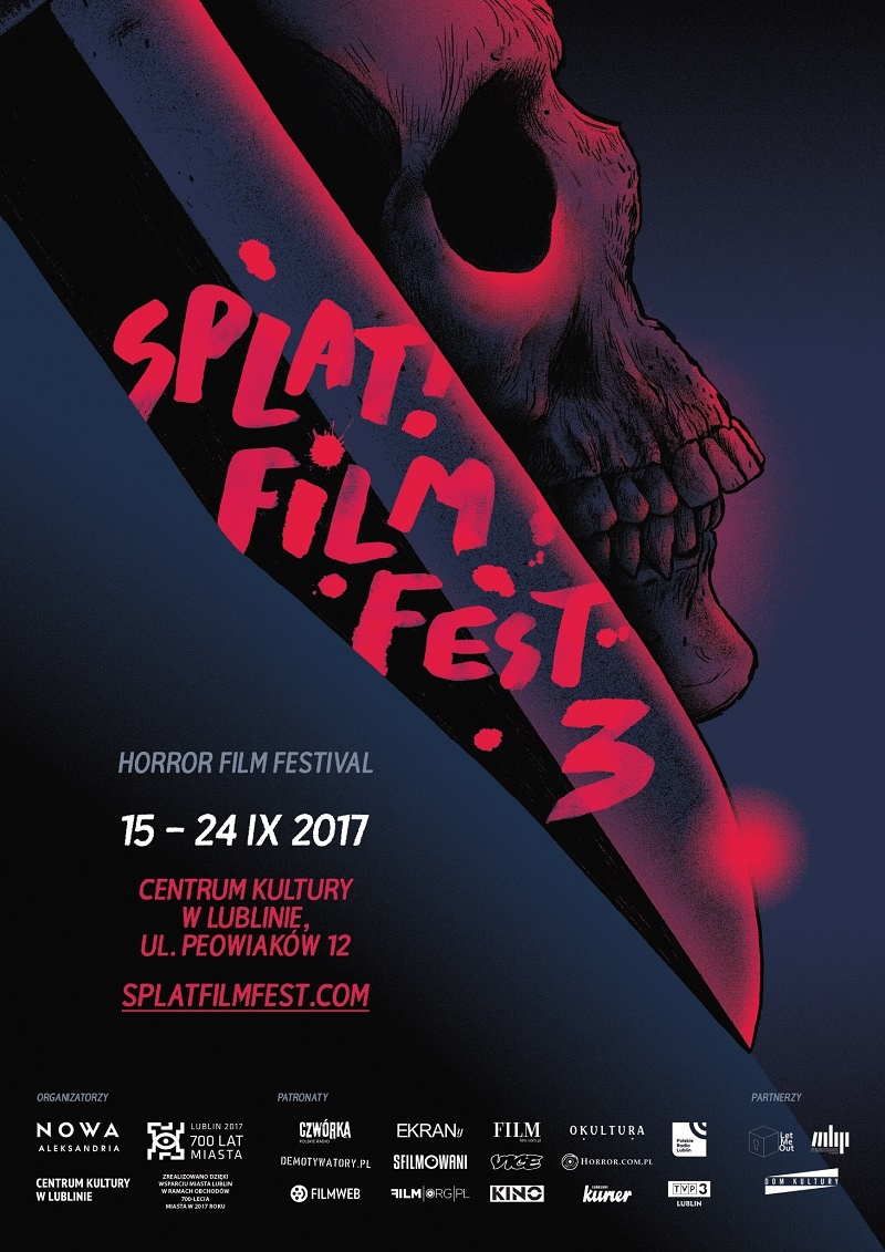 Oficjalny plakat festiwalu Splat!FilmFest (źródło: materiały promocyjne organizatora)