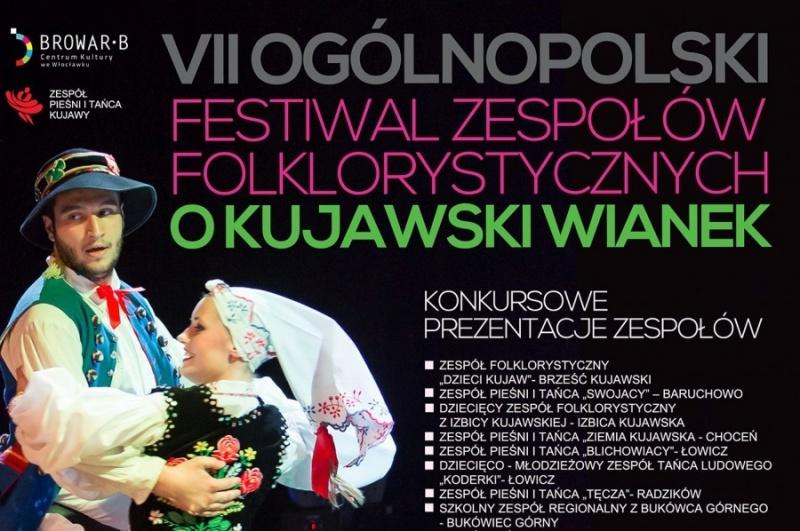 Plakat VII Festiwalu Zespołów Folklorystycznych (źródło: materiały promocyjne organizatora)